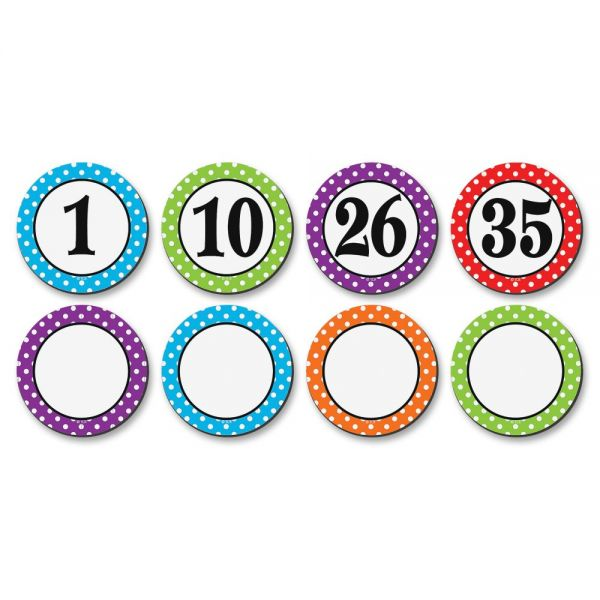 Teacher Created Resources Polka Dots Magnetic Number Accents