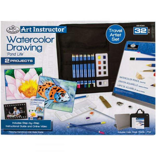 Art Instructor Watercolor Drawing Travel Set