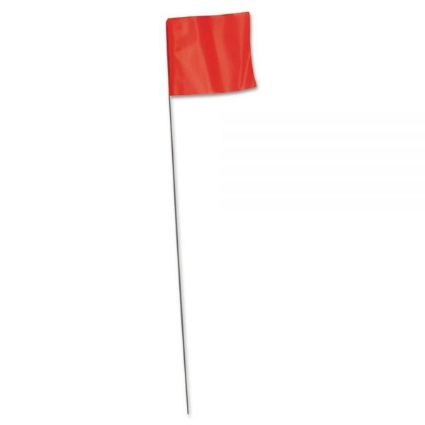 "IRWIN Stake Flag, 2.5"" x 3.5"" x 21"", Orange Glow"
