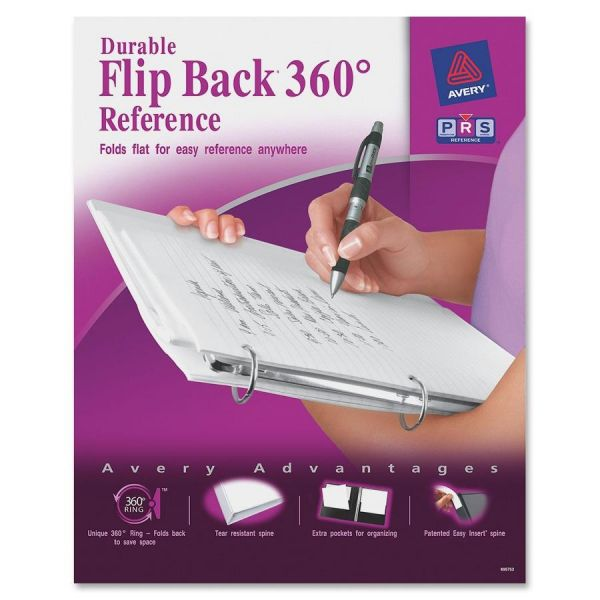"Avery Flip Back 360 Reference 1"" 3-Ring View Binder"