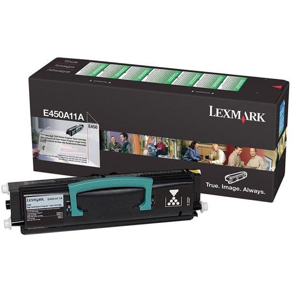 Lexmark E450A11A Black Return Program Toner Cartridge