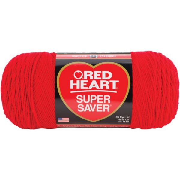 Red Heart Super Saver Yarn - Cherry Red