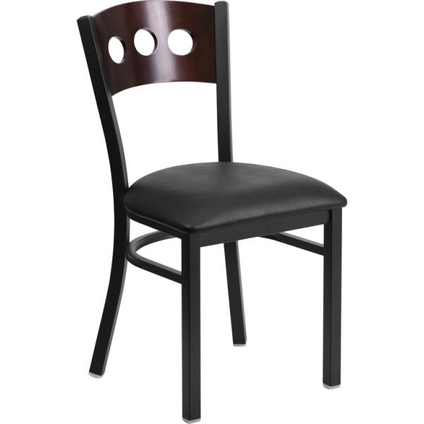 Flash Furniture Decorative 3 Circle Back Metal Restaurant Chair