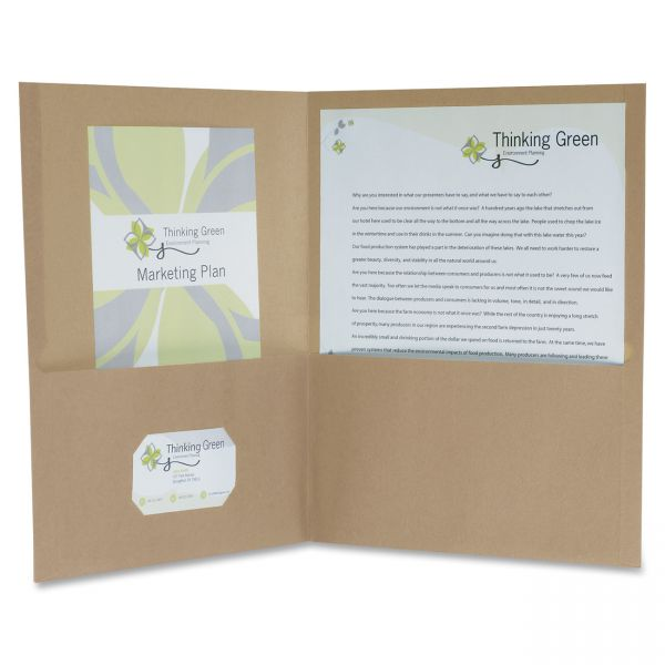 Earthwise Oxford 100% Recycled Two Pocket Folders