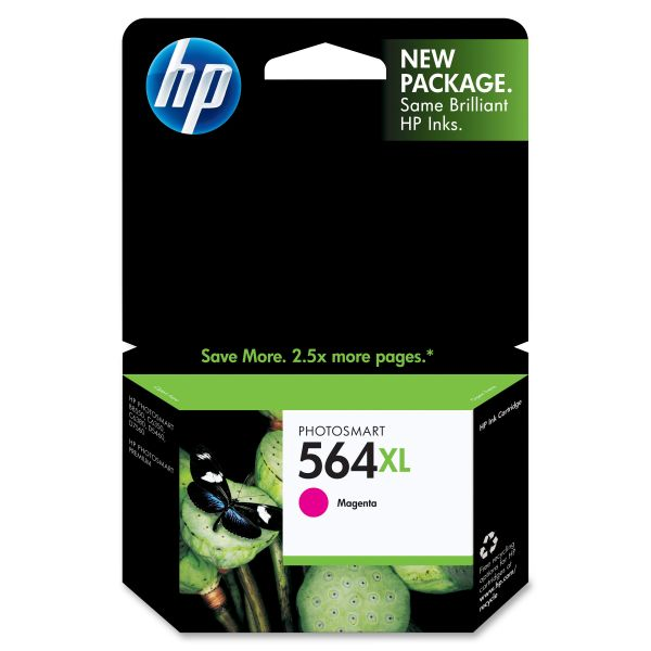 HP 564XL High Yield Magenta Ink Cartridge (CB324WN)