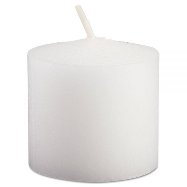 FancyHeat Votive Candle, White, 10 Hour Burn, 1-1/3 in, 72/Pack
