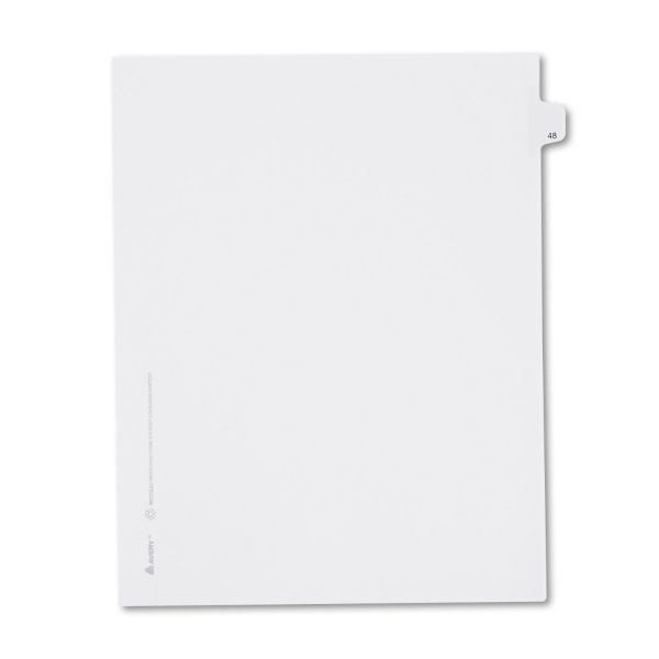 Avery Allstate-Style Legal Exhibit Side Tab Divider, Title: 48, Letter, White, 25/Pack