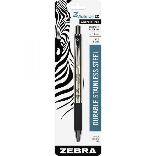 Zebra Pen Emulsion Retractable Ballpoint Pen