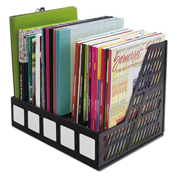 Advantus Literature File, Five Slots, Black