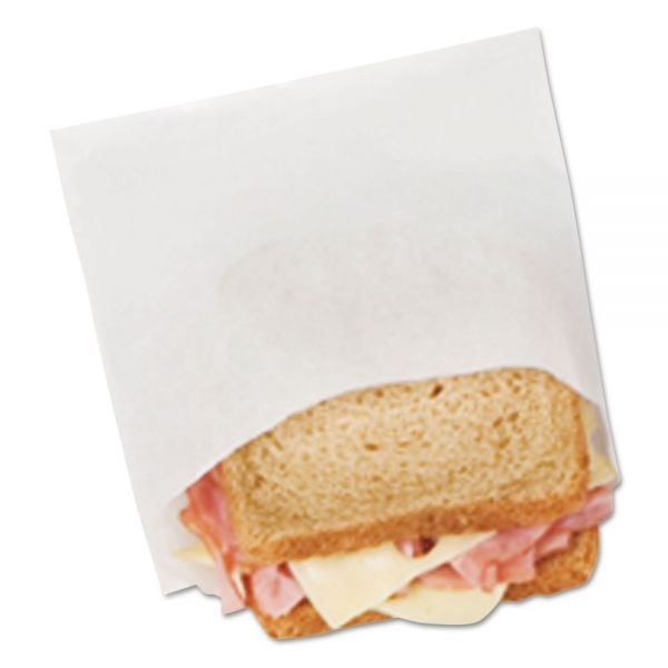 Bagcraft Papercon DX18 Dry Wax Sandwich Bags