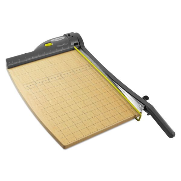 Swingline ClassicCut 15-Sheet Laser Trimmer, Metal/Wood Composite Base, 12 x 15