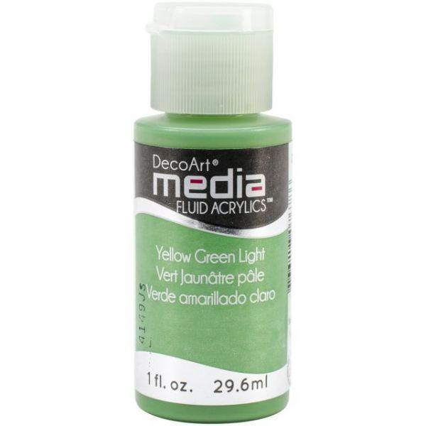 Deco Art Yellow Green Light Media Fluid Acrylic