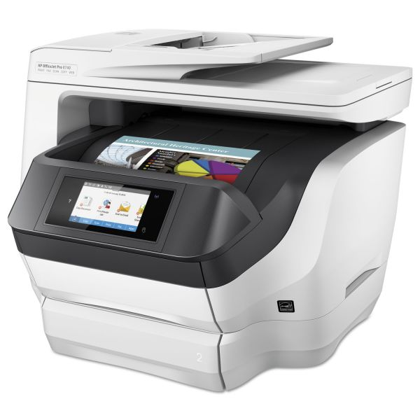HP Officejet Pro 8740 Inkjet Multifunction Printer - Color - Plain Paper Print - Desktop