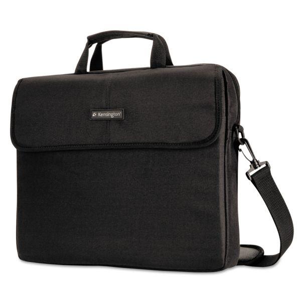 "Kensington 15.6"" Laptop Sleeve, Padded Interior, Inside/Outside Pockets, Black"