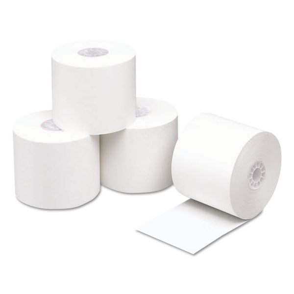 "PM Company Direct Thermal Printing Thermal Paper Rolls, 2 1/4"" x 230 ft, White, 50/Carton"