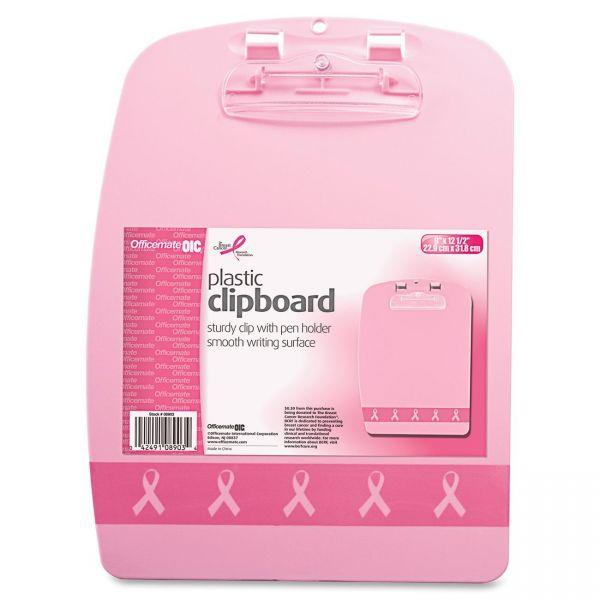OIC Breast Cancer Awareness Designer Plastic Clipboard
