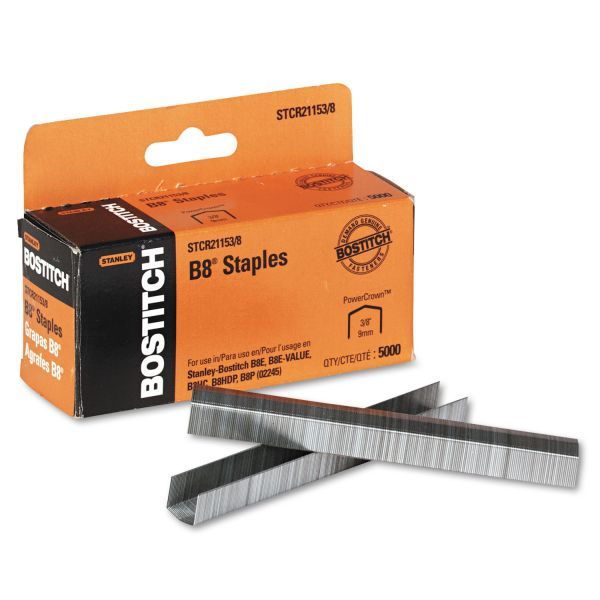 "Stanley-Bostitch B8 Premium 3/8"" PowerCrown Staples"