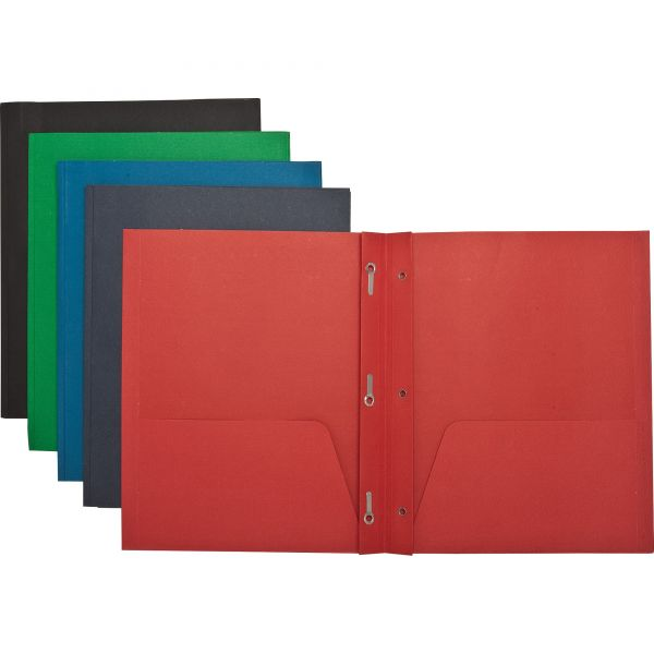 Sparco Two Pocket Folders with Fasteners