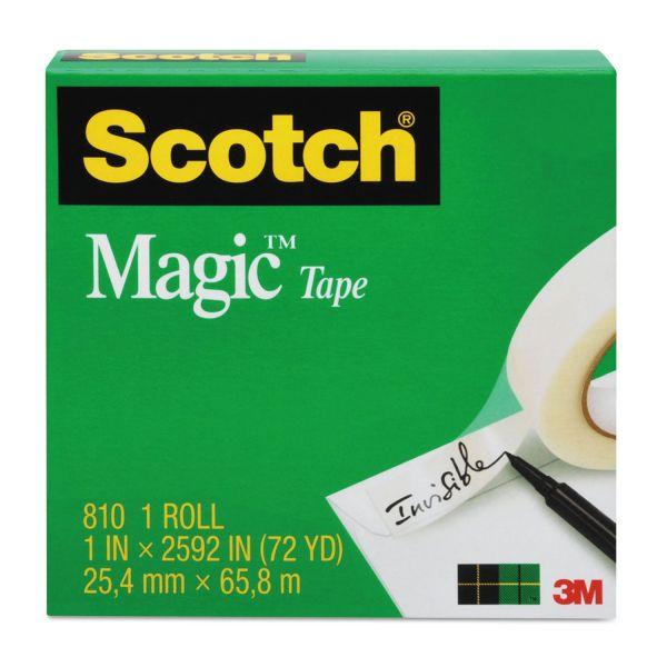 """Scotch Magic Tape Refill, 1"""" x 1296"""", 1"""" Core, Clear"""