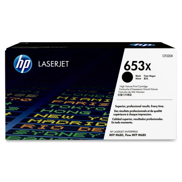 HP 653X Black Toner Cartridge (CF320X)