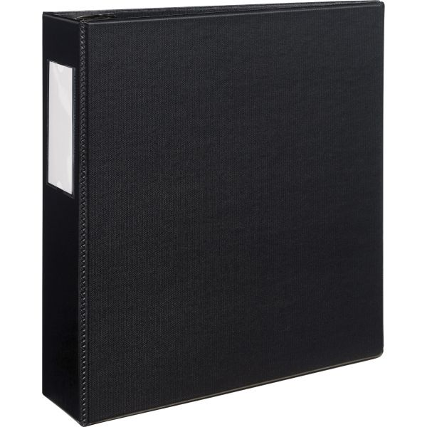 """Avery Durable 3-Ring Binder with Two Booster EZD Rings, 3"""" Capacity, Black"""
