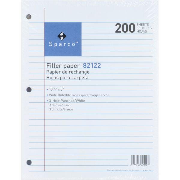 Sparco Wide Ruled Loose Leaf Paper