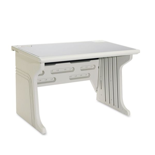 Iceberg Aspira Modular Desk, Resin, 48w x 28d x 30h, Granite/Platinum