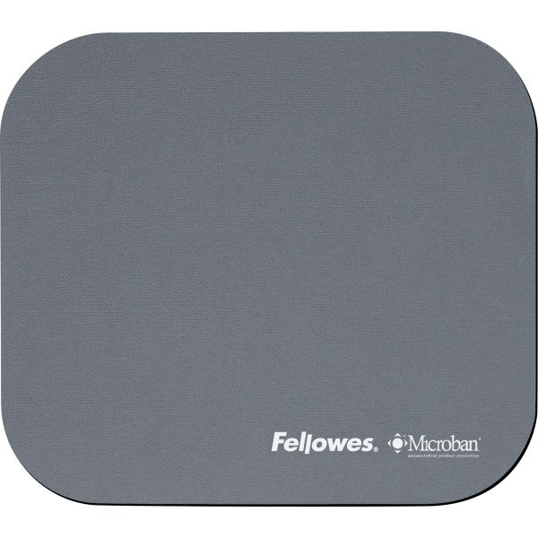 Fellowes Microban Mouse Pad - Graphite