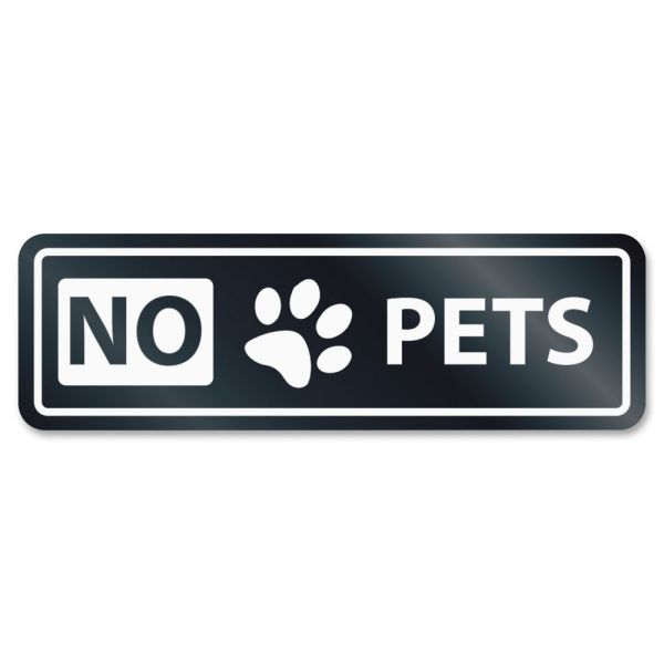 HeadLine No Pets Window Sign