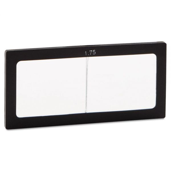 """Anchor Brand Magnifier Lens, 2"""" x 4 1/4"""", Glass, 1.75 Diopter"""