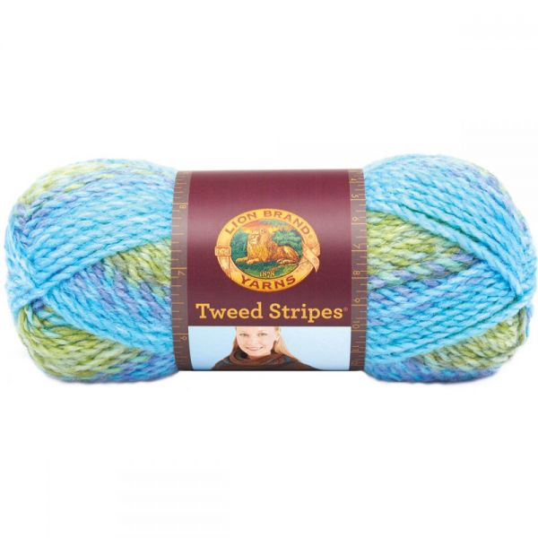 Lion Brand Tweed Stripes Yarn - Lakeside
