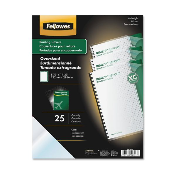 Fellowes Oversized Clear Binding Covers
