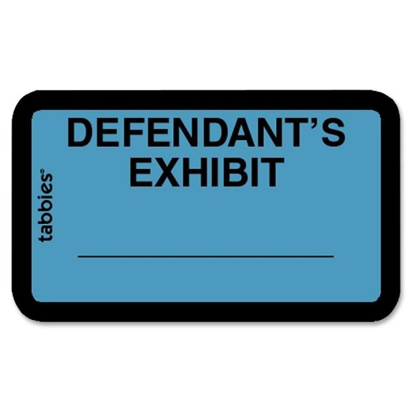 Tabbies Defendant's Exhibit Legal File Labels