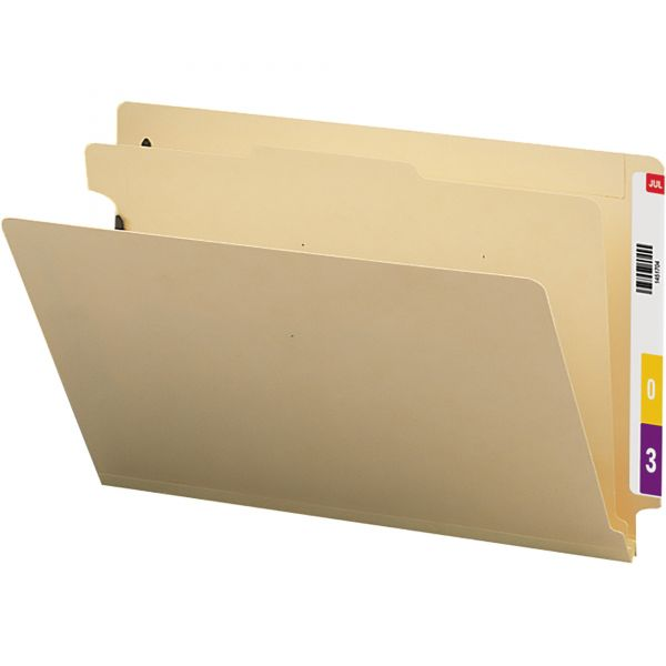 Smead Manila 1-Divider End Tab Classification Folders