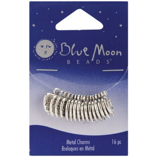 Blue Moon Silver-Plated Metal Charms