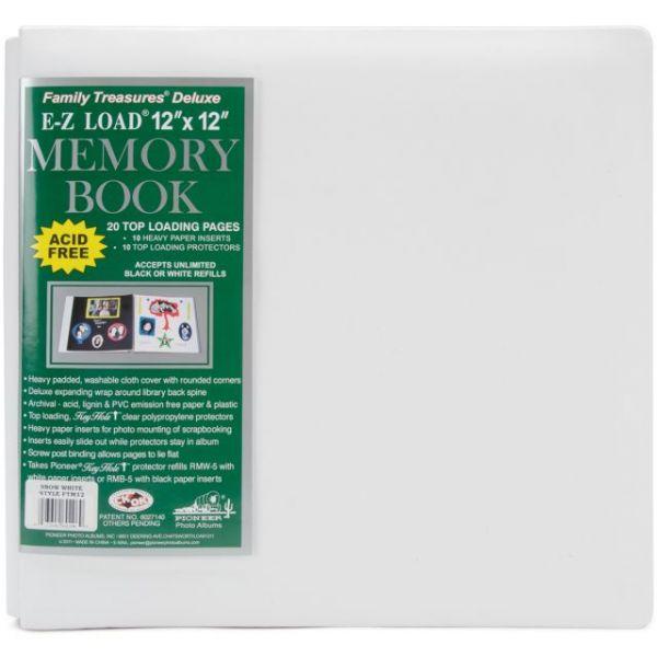 """Family Treasures Deluxe Fabric Post Bound Album 12""""X12"""""""