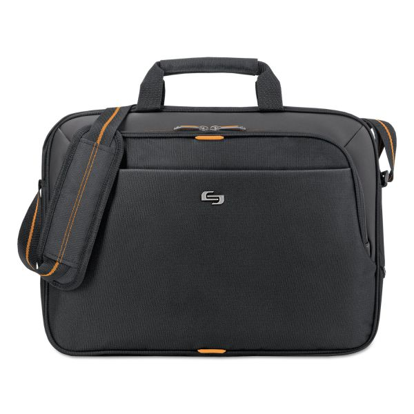 "Solo Urban Slim Brief, 15.6"", 16 1/2"" x 2"" x 11 3/4"", Black"