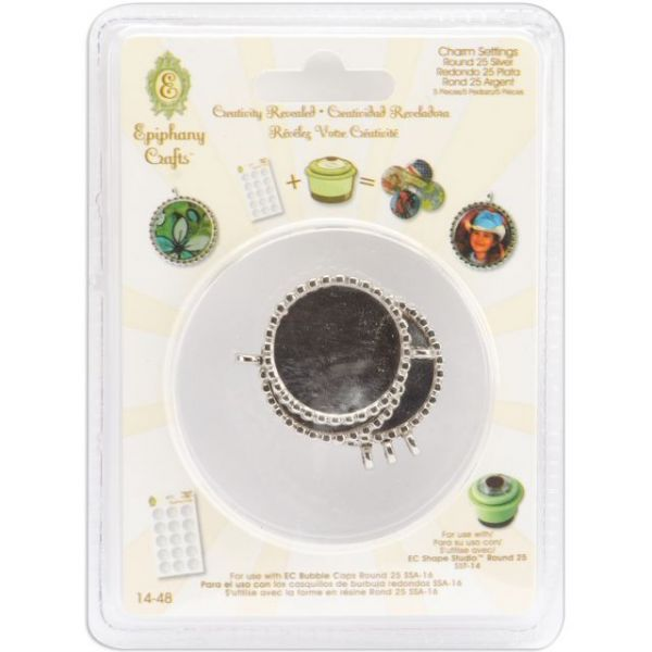 Epiphany Crafts Metal Charm Settings