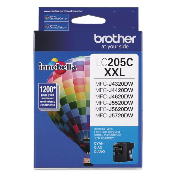Brother Innobella Super High-Yield LC205C XXL Cyan Ink Cartridge