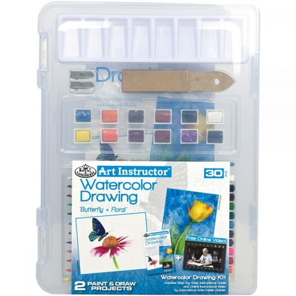 Art Instructor Watercolor Pencil Drawing Clearview Art Set