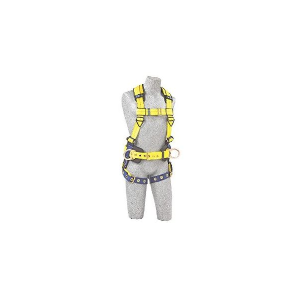 DBI-SALA Full-Body Harness, Tongue Buckles, Side/Back D-Rings, Large, 420lb Capacity