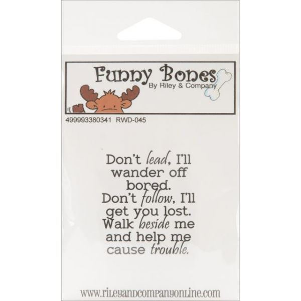 "Riley & Company Funny Bones Cling Mounted Stamp 2""X2.25"""