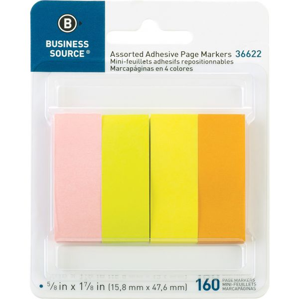 Business Source Adhesive Page Markers