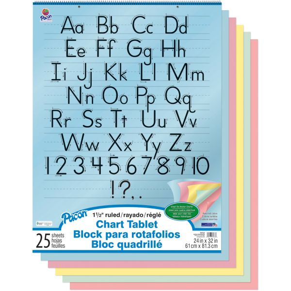 Colored Paper Chart Tablet