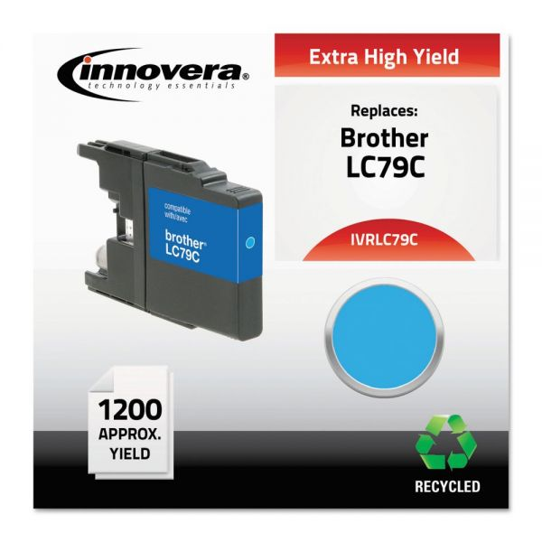 Innovera Remanufactured LC79C Extra High-Yield Ink, Cyan