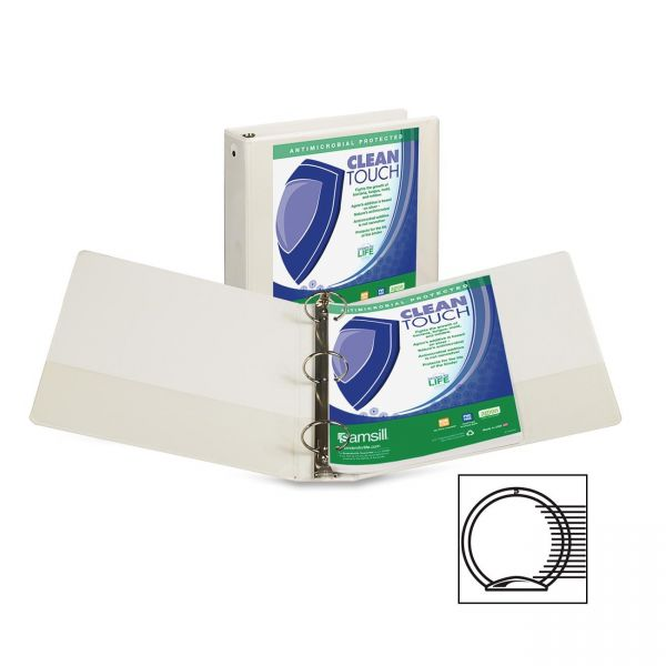 """Samsill Clean Touch 2"""" 3-Ring View Binder"""