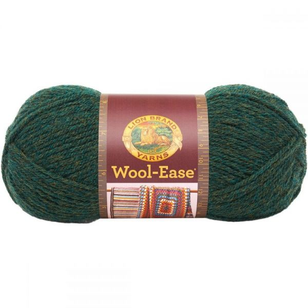 Lion Brand Wool-Ease Yarn - Forest Green Heather