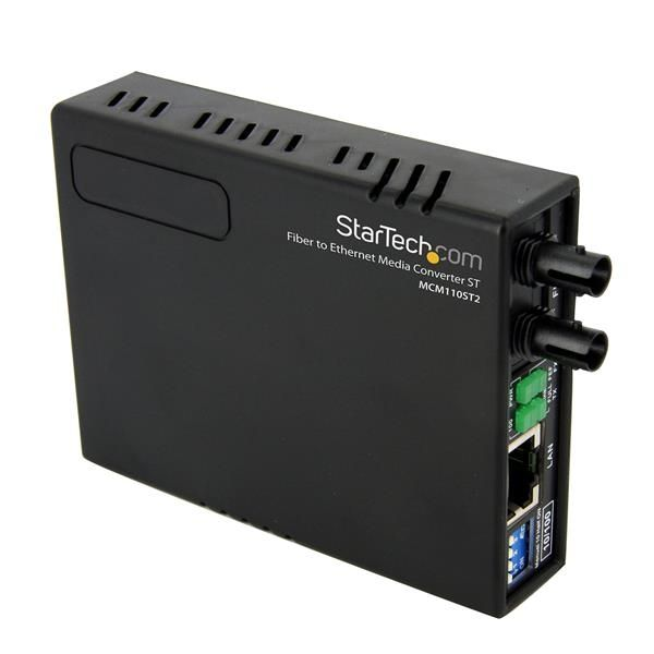 StarTech.com 10/100 Fiber to Ethernet Media Converter Multi Mode ST 2 km
