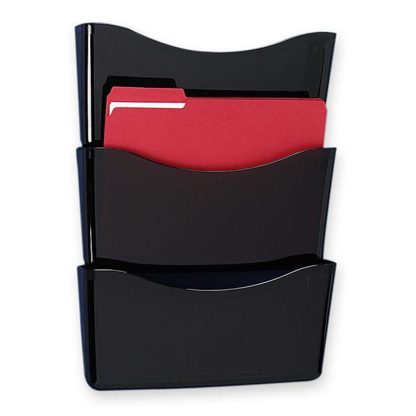 Rubbermaid Triple-Pocket Decker Hanging Wall File Pockets