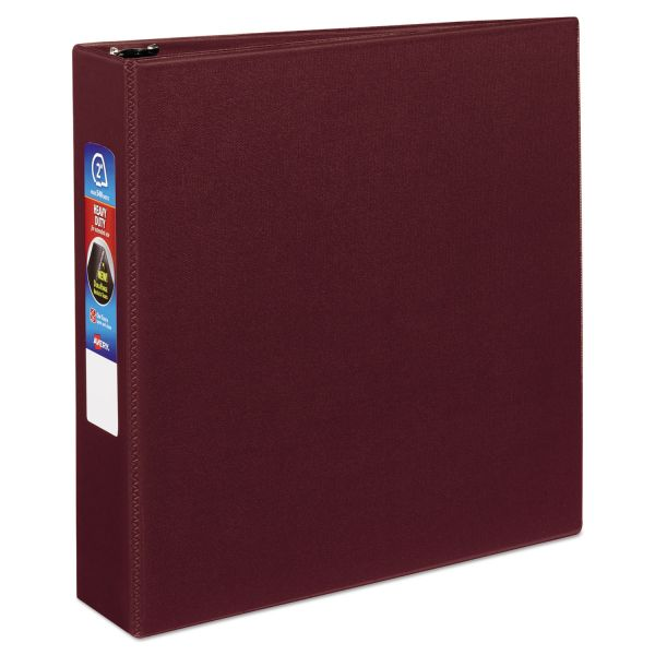 "Avery Heavy-Duty 3-Ring Binder with One Touch EZD Rings, 2"" Capacity, Maroon"